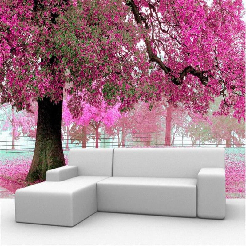 Popular purple blossom tree buy cheap purple blossom tree for Cherry blossom wallpaper mural