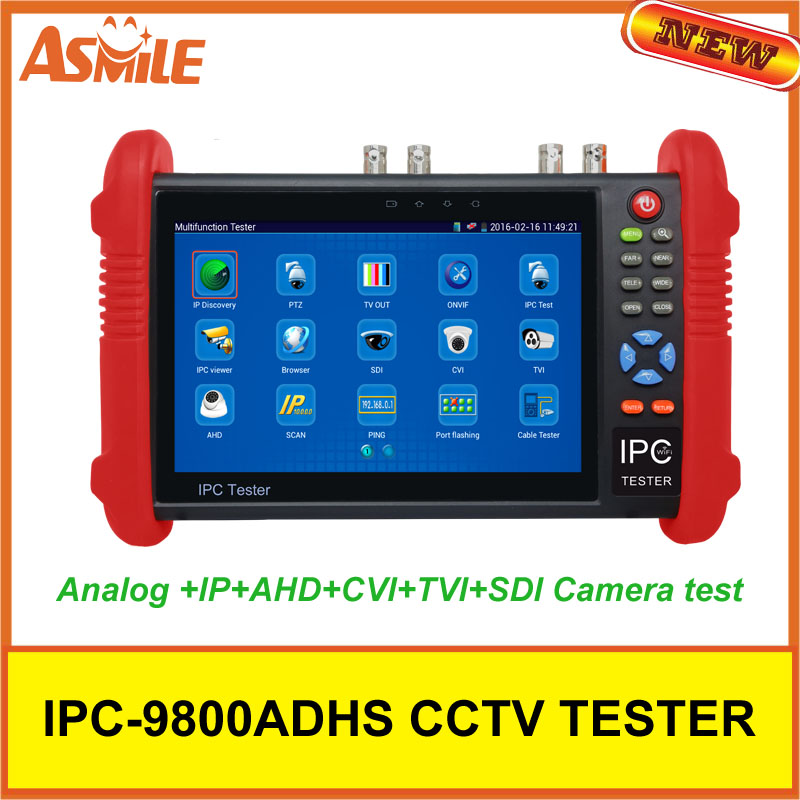 IPC9800ADHS 7 Touch Screen CCTV Analogy Video HD1080P IP Camera Wifi Tester POE UTP from asmile