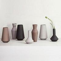Nordic Morandi Grinded Ceramic Vase Handmade geometric vases tabletop Dried flower ornaments home decoration vases