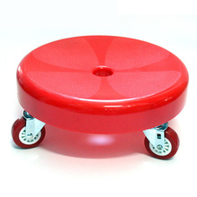 Home Hotel Cleaning stool plastic seat wheel Clean company working stool free shipping red color Wipe the ground stool