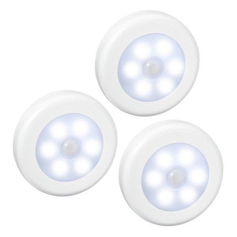 Luzes da Noite 3 pçs/lote 6 led ir Fonte de Energia : Bateria Seca