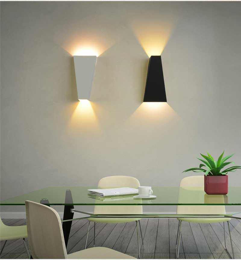 1 pcs concise modern Ferro forjado Art 6 w conduziu a lâmpada de parede de cabeceira corredor escadas luz caminho de luz