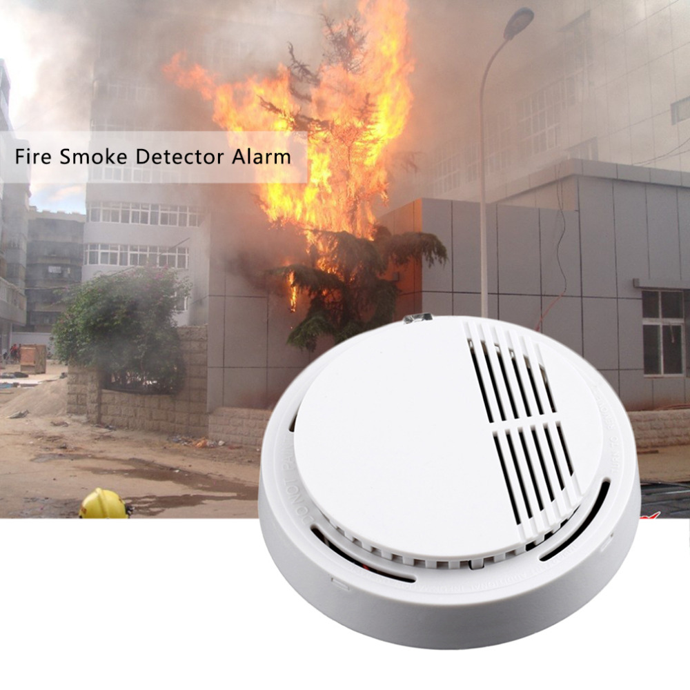 1 pcs fire smoke sensor detector alarm tester 85db home security system for family guard
