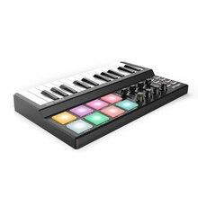 На выбор 25 ключи миди клавиатуры панда мини USB MIDI контроллер клавиатуры 8 цветная подсветка триггерные подушки