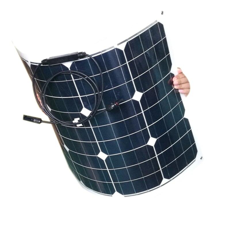 Flexible Solar Panel 18v 55w 3 PCs Battery Charger 12v Photovoltaic Panels 165W Solar Power System Off Grid RV Car Caravan Camp