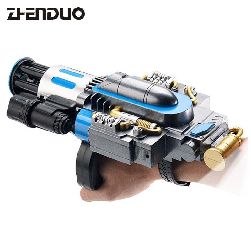 ZhenDuo Jouets Rétractable Rotation Main Portant Électrique Pistolet À Eau Pistolets Fusils Jouets Pour Enfants En Plein Air Fun Sport Jouet
