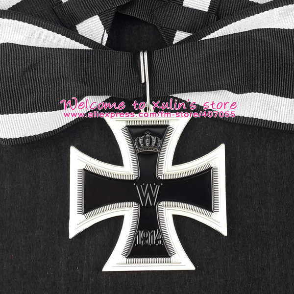 XDM0050 German Empire 1914 Grand Cross of the Iron Cross with Ribbon WWI  Military Decoration Deutschland Neck Order 62mm Cross