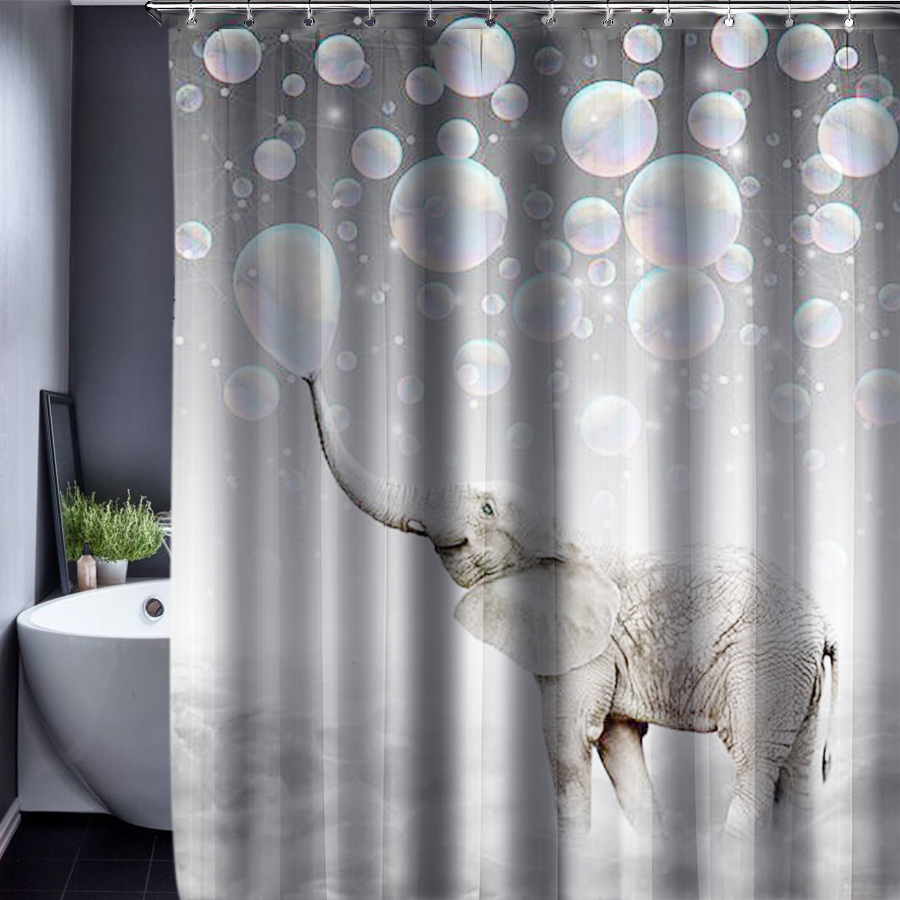 3D Deer Polyester Customized Shower Curtain Bathroom Accessories Waterproof Fabric 150x180cm In Curtains From Home