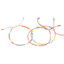 3 Pcs Friendship Tassel Pendant Charm Bracelet Adjustable Crystal Beaded Woven Handmade Bangle For Woman Fashion Jewelry