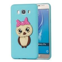 Soft TPU Phone Case sFor Samsung Galaxy J7 2016 Case 3D Silicone Cute Owl Cover For Coque Samsung J7 2016 Cases Etui Capinha