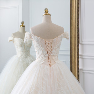 Image 5 - Fansmile Vintage Princess Ball Gown Quality Tulle Wedding Dress 2020 Customized Plus size Lace Wedding Bride Dresses FSM 518F