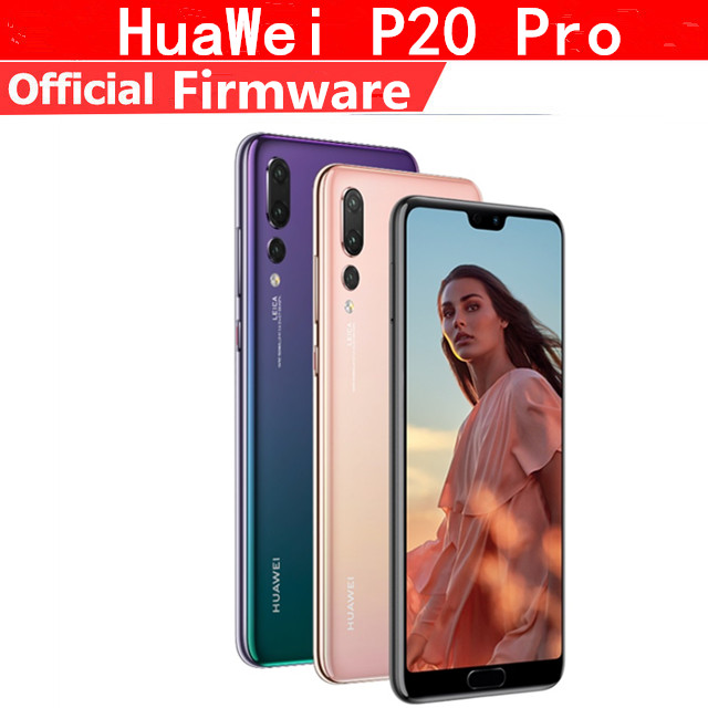 "DHL Schnelle Lieferung HuaWei P20 Pro 4G LTE Handy Kirin 970 Android 8,1 6.1 ""2440x1080 6GB RAM 256GB ROM NFC 40,0 MP IP67"