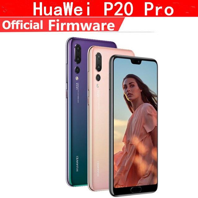 "DHL livraison rapide HuaWei P20 Pro 4G LTE téléphone portable Kirin 970 Android 8.1 6.1 ""2440x1080 6GB RAM 256GB ROM NFC 40.0MP IP67"