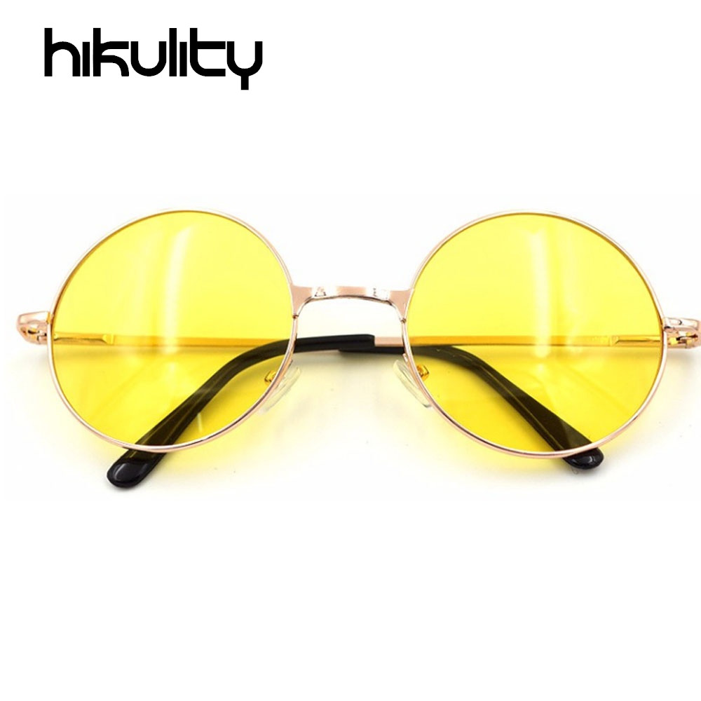 Large Yellow Frame Sunglasses : Round Hipster Sunglasses Women 2017 Yellow Lens Clear ...