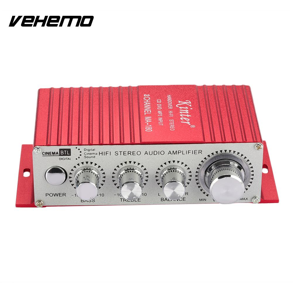 Vehemo Metal 12V MA180 Audio Amplifier Automobile Car Amplifier Music Car Portab