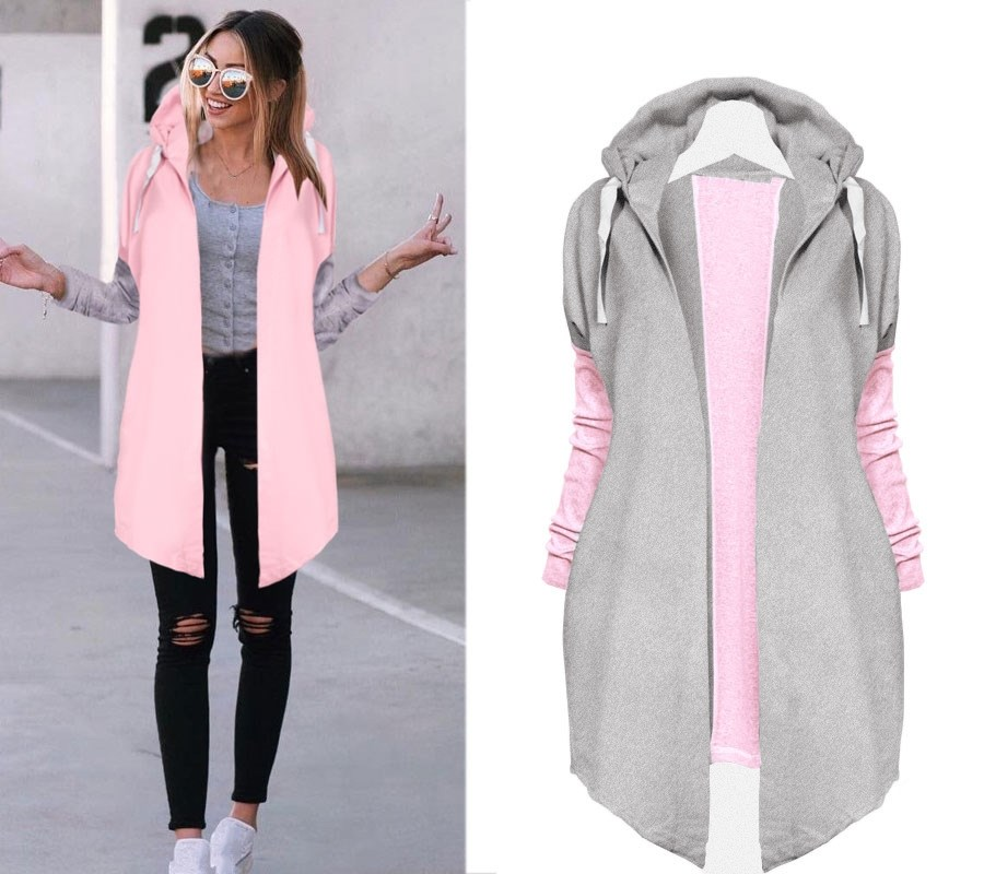 Autumn Women Coat Hooded Long Sleeve   Basic     Jacket   Outwear Zipper Warm   Jacket     Jacket
