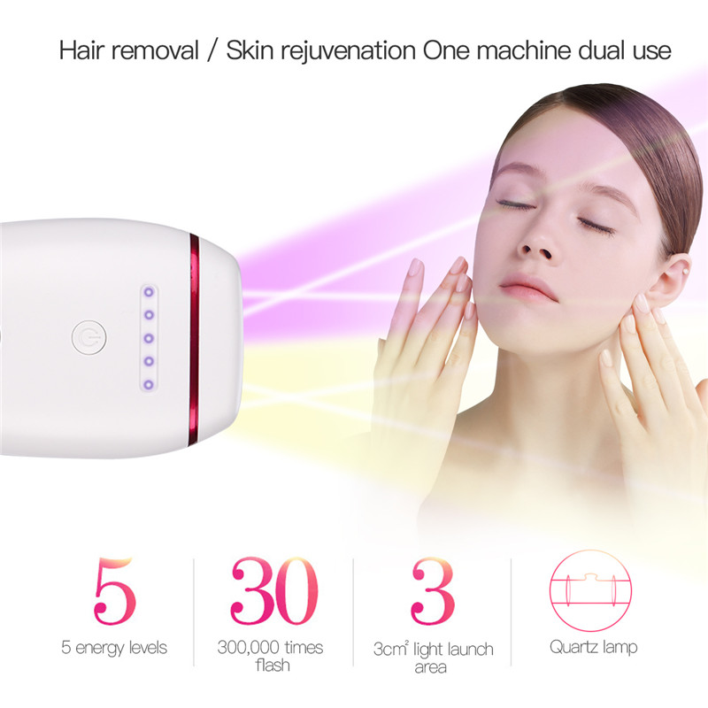 2 In1 IPL Laser Épilateur Épilation Machine Permanent Bikini Trimmer Électrique Depilador Indolore Corps Visage Cheveux Rasoir Rasoir
