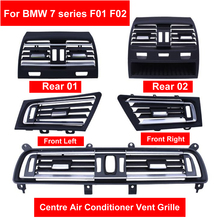 цена на Front Row Wind Left/Center/Right/Rear Air Conditioning Vent Grill Outlet Panel Chrome Plate For BMW 7 series F01 F02 730 735 740
