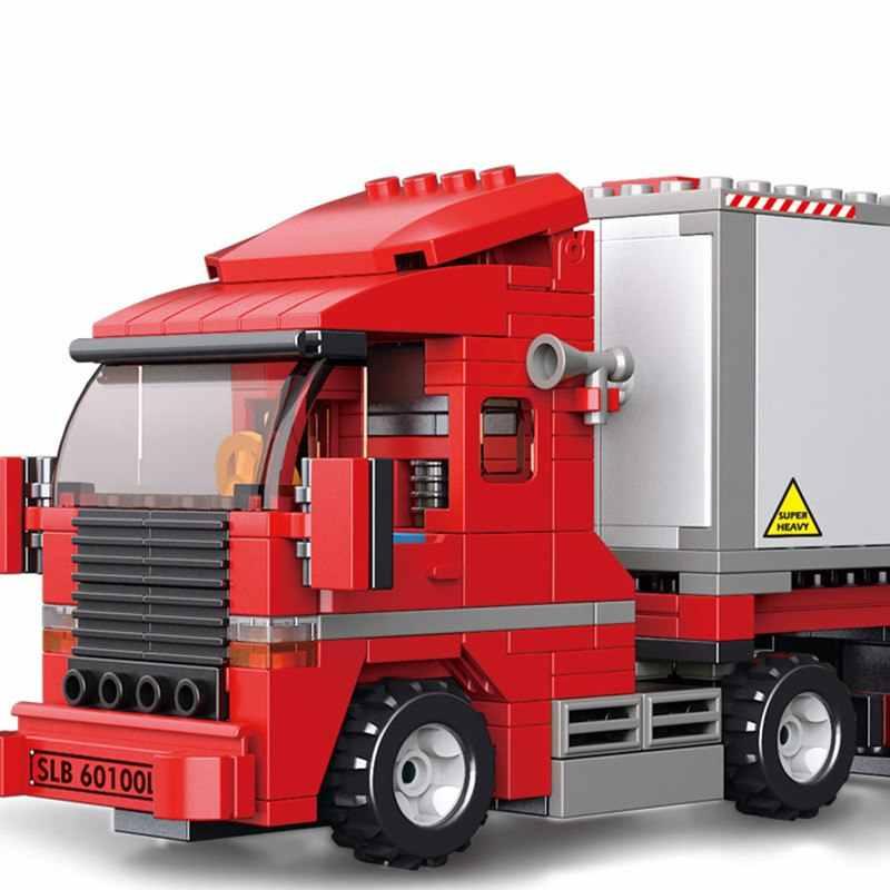 345 قطع مزدوجة فان الشحن شاحنة Compatibie Legoings اللبنات مجموعة ألعاب Diy تربية الأطفال عيد الميلاد هدايا عيد الميلاد