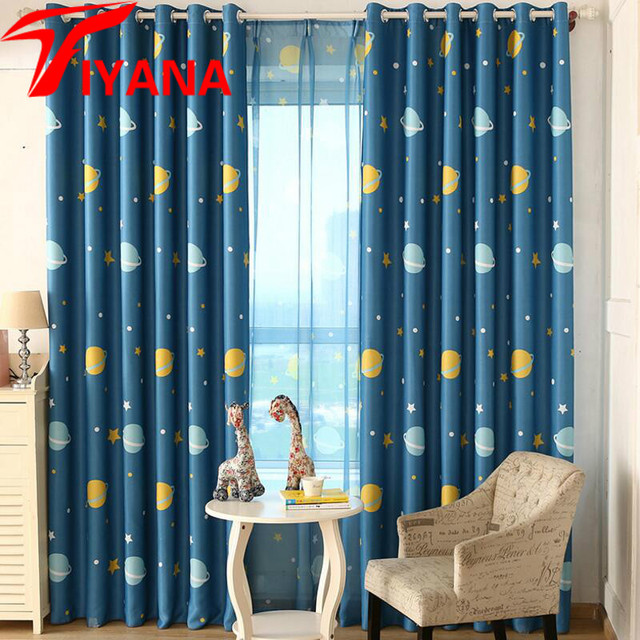 Blue Planet Star Wars Cartoon Shade Curtains For Baby Boy Kids ...