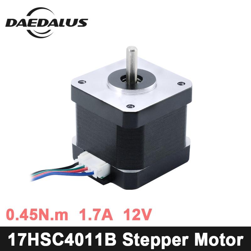 17HS-C4011B Nema17 Stepper Motor 1pcs 4-lead Nema 17 Stepper Motor 42 Motor 1.7A For 3D Printer And CNC XYZ engraver machine threaded nema17 stepper w 460mm tr8 12 leadscrew acme leadscrew threaded rod nema17 stepper motor