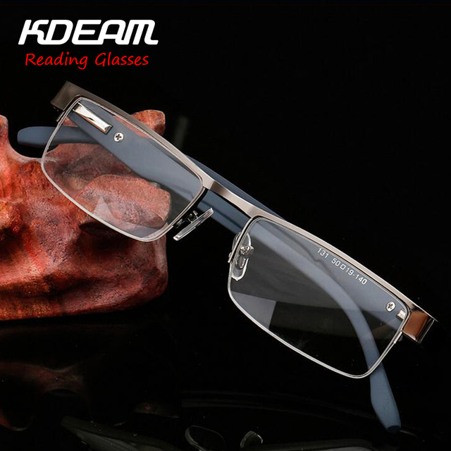 ba741a609044 KDEAM Presbyopia Eyewear Luxury Reading Glasses Men Italy Design Fashion  Comfortable Stainless Steel Frame 3 Colors R131R