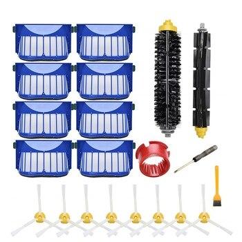 החלפת אבזר ערכת עבור Irobot Roomba 600 סדרה 690 680 660 650 (לא עבור 645 655) & 500 סדרת 595 585 564, מסנן, Bru-בחלקים לשואב אבק מתוך מכשירי חשמל ביתיים באתר