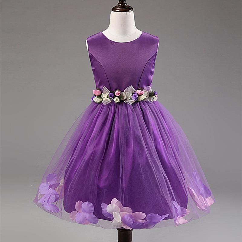Ziedu meitene kleita dzimšanas dienas svinības meitenes kleitas - Bērnu apģērbi