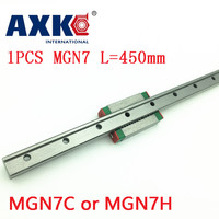 2019 AXK rail mgn7 For 7mm Linear Guide Mgn7 L= 450mm Linear Rail Way + Mgn7c Or Mgn7h Long Linear Carriage For Cnc X Y Z Axis