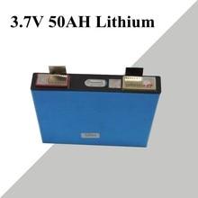 Batería de polímero de litio de 3,7 V y 50Ah, capacidad real de 52ah, panel solar de batería de iones, coche eléctrico DIY, motocicleta eléctrica de 12V