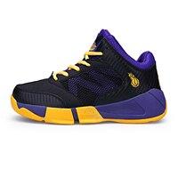 Big Kids Basketball Shoes Boys Girls Shockproof Sport Blue Teenage Sneakers Chaussure Basket Enfant Garcon