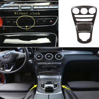 Lapetus Car Styling Stalls Gear Shift Box Water Cup Holder Cover Trim For Mercedes Benz GLC X253 / C CLASS W205 C200 2015 2018