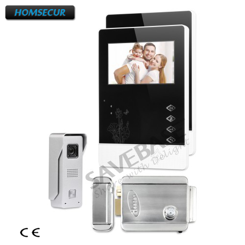 HOMSECUR Ship from RU 4.3inch Video Door Intercom System Electric Lock Supported for Home Security 1V2 homsecur ship from ru 4 3inch video door intercom system electric lock supported for home security 1v2