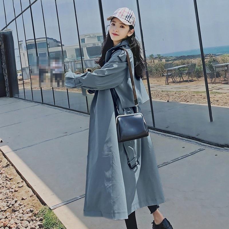 CHICEVER 秋女性のウインドブレーカーラペル長袖包帯カジュアルルーズロングトレンチコートの女性 2019 韓国ファッション服  グループ上の レディース衣服 からの トレンチ の中 3