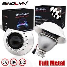 "SINOLYN For BMW E46 M3 ZKW Wagon/Sedan/Coupe 2.5"" HID Bi xenon Lens Projector Headlight Headlamp Retrofit DIY H7 Full Metal Kit"
