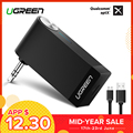Ugreen Bluetooth Receiver 4.2 Wireless Bluetooth Audio Receiver 3.5mm Car Aux Bluetooth Adapter for Speaker Headphone Hands-free