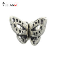 Solid 925 Sterling Silver Butterfly Spacer Beads Animal Insect Stopper Charm Fit European Troll 3 Mm