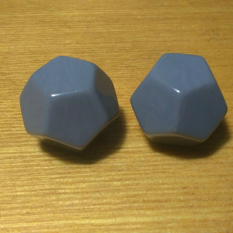 Free shipping 10pcs 12-sided grey color blank dice can be written by marker pen for boardgame and other game accessories