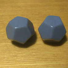 Free shipping 2pcs 12-sided grey color blank dice can be written by marker pen for boardgame and other game accessories