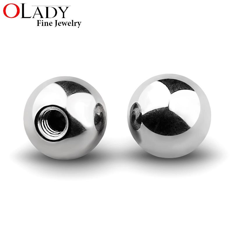 10pcs/lot 2.5 3 4 5 6 mm G23 Titanium Piercing Ball 14/16G Lip Eyebrow Tongue Belly Navel Ring Body Jewelry Piercing Parts