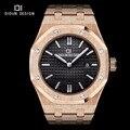 Didun mens relojes de primeras marcas de lujo de cuarzo reloj de moda casual de negocios macho luminoso de pulsera 30 m resistente al agua