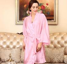 Large Women Nightdress Sexy Sleepwear Nightwear Lace Mini bridesmaid robes  satin nightgown Night Dress chemise de be5ea6fc6a46