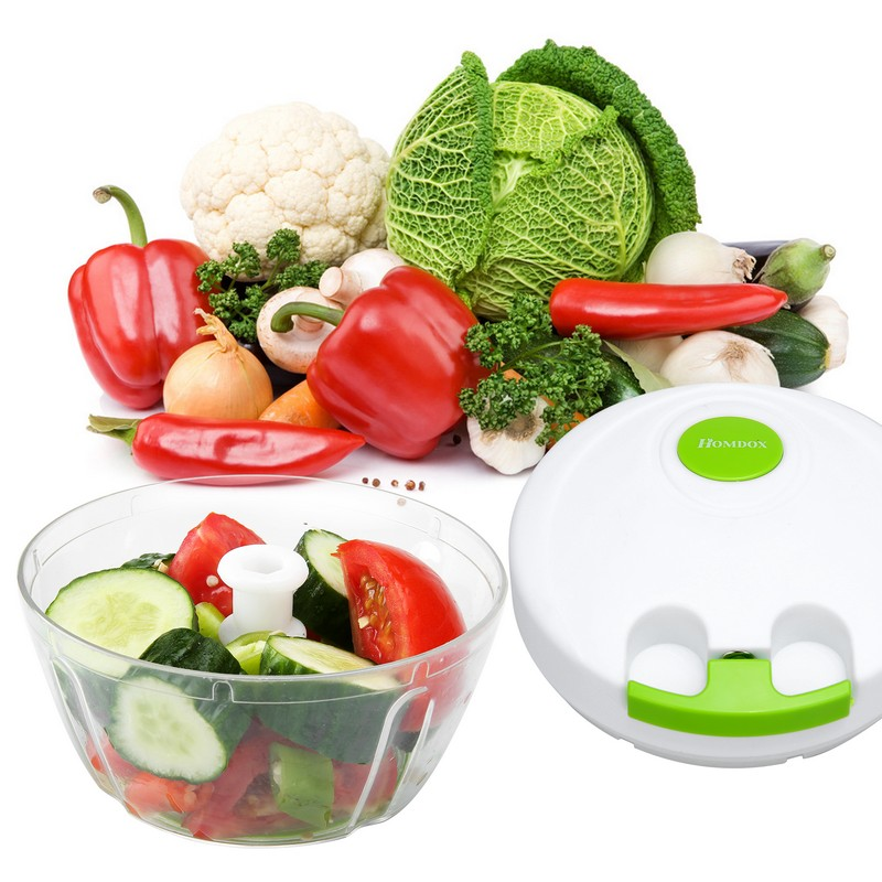 Cooking Tools Kitchen Accessories Portable Food Chopper Fruit Vegetable Slicer Chop Processor Shredders R20