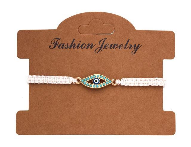 Adjustable Metal Blue Evil Eye Charm Bracelet