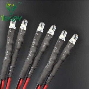 Image 5 - 20 pces led 3mm led uv roxo diodo 9 12 v pré wired resistor emitindo diod redondo dc 20 cm pré prendido leds luz da lâmpada diy