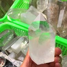 Large Size Drop Shipping Natural Clear Quartz Crystal Gemstone Point Reiki Healing Chakra Rock Wand Decoration