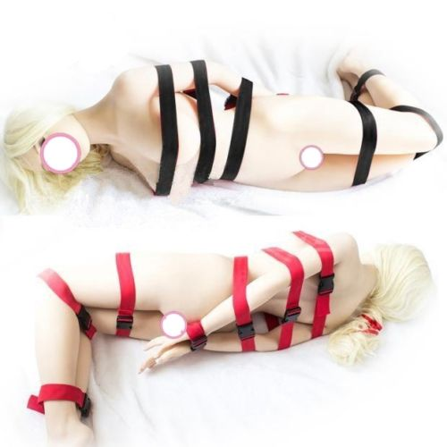 Buy 7pcs Nylon Slave Bondage cuffs Body harness Restraints Straps BDSM Adult Sex toy   Straps Fantasy Bondage Restraint Sex Tools