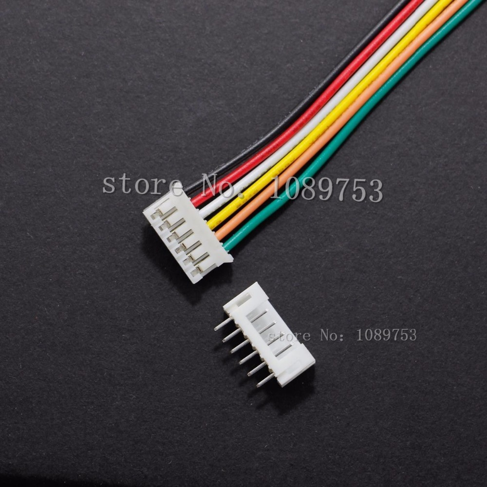 20 SETS Mini Micro JST 2.0 PH 6-Pin Connector plug with Wires Cables 100MM 10CM