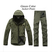 12 Color Tactical TAD Gear Shark Skin Soft Shell Camouflage Outdoor Jacket Sport Waterproof Jacket Hunting