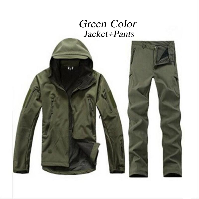 12 Color Tactical TAD Gear Shark Skin Soft Shell Camouflage Outdoor Jacket Sport Waterproof Jacket Hunting Military Jacket Pants